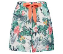 Shorts dunkelgrün / mischfarben / offwhite