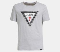 T-Shirt hellgrau / hellrot / schwarz / weiß