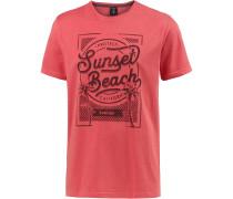 'stone' T-Shirt pastellrot