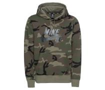 Sweatshirt schwarz / braun / khaki