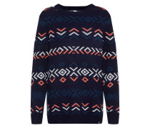 Pullover 'Eline' navy / koralle / weiß