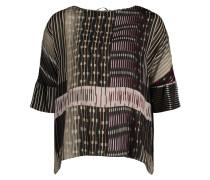 Casual-Bluse mit Muster hellgrün / schwarz