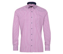 Langarm Hemd Modern FIT grau / pink / weiß