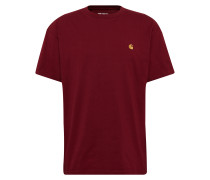 Shirt 's/s Chase T-Shirt' weinrot