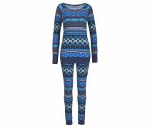 Pyjama im Norwegermuster mit Sternen