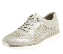 Sneaker mit glänzender Oberfläche silber