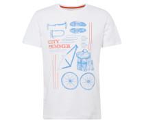 T-Shirt 'sg-078Ee2K019' mischfarben / weiß