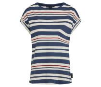 Shirt 'Joy' navy / merlot / weiß