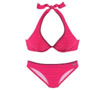 Bikini dunkelblau / pink