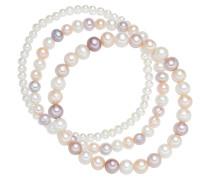 Armband 3er-Set mit Perlenbesatz