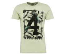 T-Shirt 'Nova' pastellgrün / schwarz