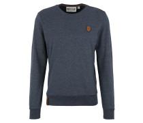 Sweatshirt 'Al K.Ohol' taubenblau / braun
