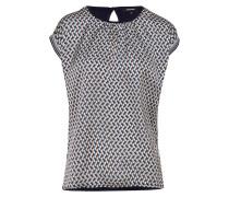 T-Shirt ecru / petrol / schwarz / weiß