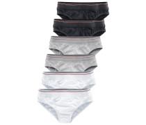 Slips (6 Stck.) graumeliert / schwarz / weiß