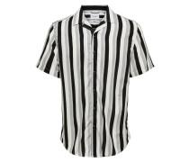 T-Shirt grau / schwarz / weiß