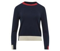 Pullover beige / blau / rot
