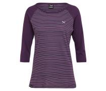 Shirt mit Raglan-Ärmeln aubergine