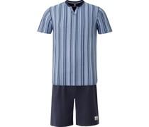 Kurzer Schlafanzug 'Olesson' mischfarben