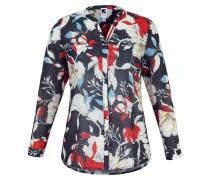 Bluse blau / rot / weiß