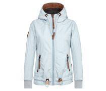 Jacket 'Gleitgelzeit' hellblau / braun