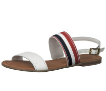 Sandale blau / rot / weiß