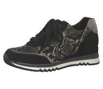 Sneaker kitt / schwarz / silber