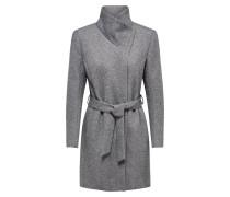 Mantel 'Elli' hellgrau / graumeliert