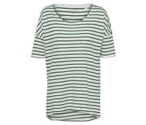 Gestreiftes T-Shirt dunkelgrün / weiß