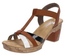 Sandale braun / schwarz / weiß