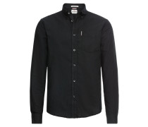 Hemd 'LS Core Oxford Shirt' schwarz