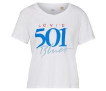 T-Shirt 'graphic Surf' weiß