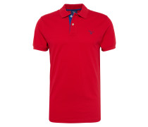 Polo-Shirt 'Rugger' dunkelblau / rot
