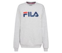 Sweatshirt graumeliert / rot / weiß