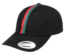 Cap 'Stripe Dad Hat' grün / rot / schwarz