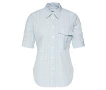 Bluse 'farmhouse CHK Shirt SS' blau