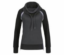 Sweatshirt grau / anthrazit / weiß