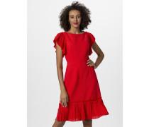 Sommerkleid mit plissierten Volants rot
