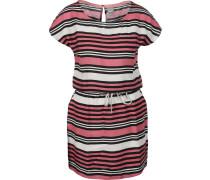 Freizeitkleid pink / schwarz / weiß