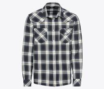 Hemd 's-East-Long-A Hemd' grau / schwarz