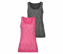Tops anthrazit / pink