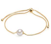 Armkette gold / perlweiß