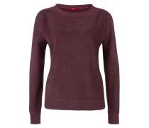 Flauschiges Sweatshirt bordeaux