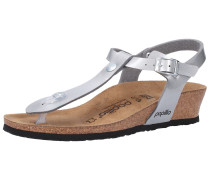 Sandalen 'Ashley' anthrazit / silber