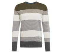 Pullover rauchgrau / oliv