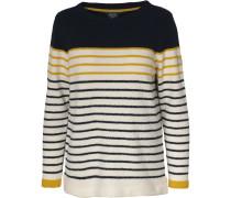 Pullover nachtblau / gelb / weiß
