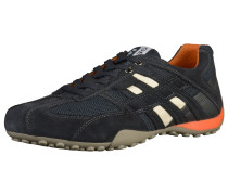 Sneaker beige / dunkelblau / dunkelorange