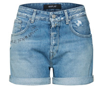 Shorts 'Palmen' blue denim