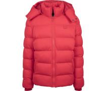 Hooded Boxy Puffer Jacke feuerrot