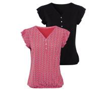 Shirts dunkelpink / schwarz