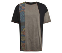 Shirt 'Finnigan' blau / hellgrau / schwarz